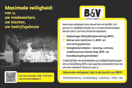 Advertentietekst – B&V partners in veiligheid