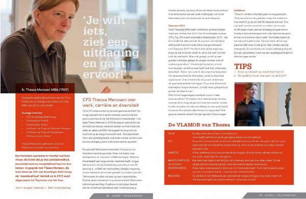 Artikel Thessa Menssen, CFO Koninklijke BAM Groep