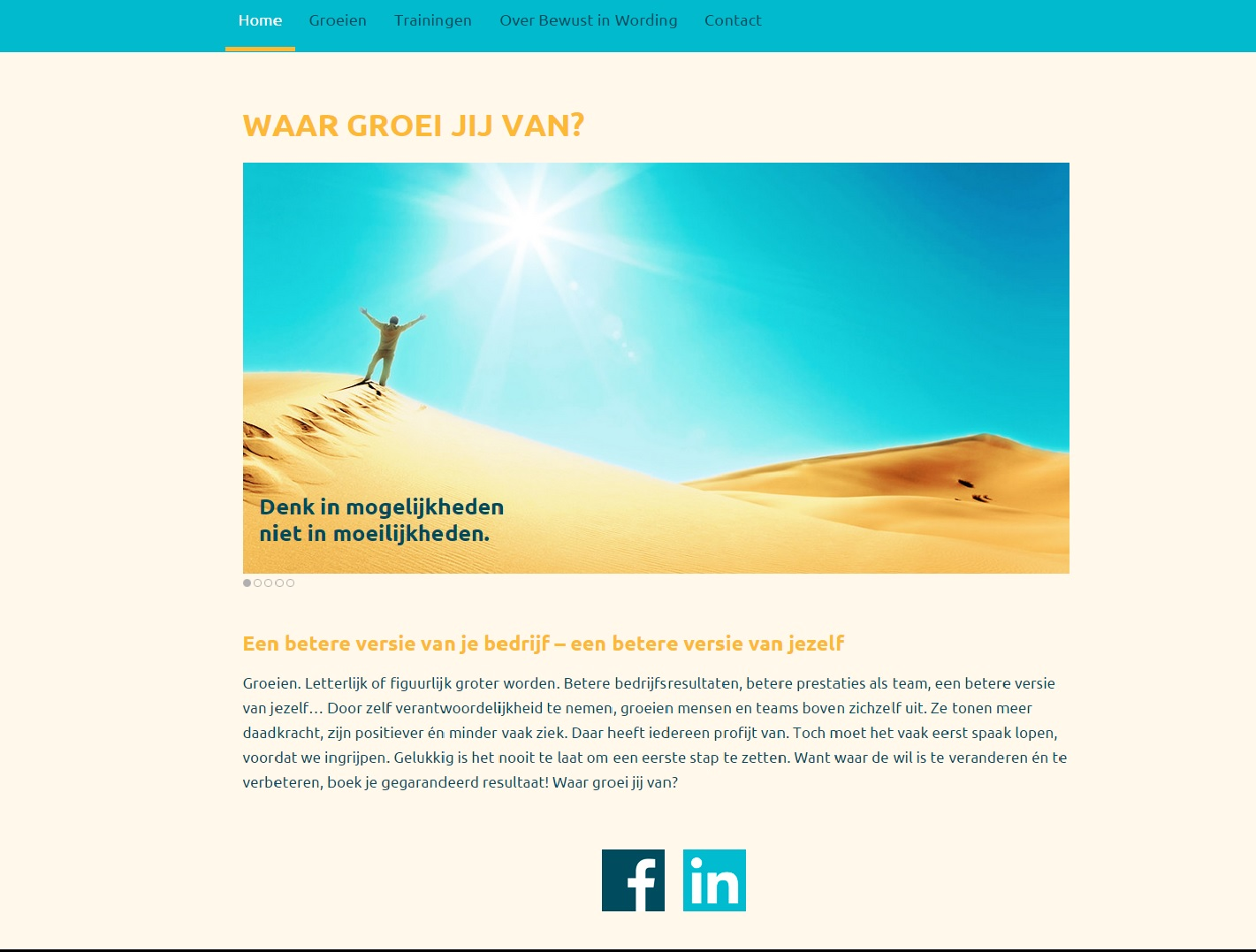 Website – Bewust in Wording