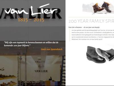 Jubileumwebsite Van Lier herenschoenen