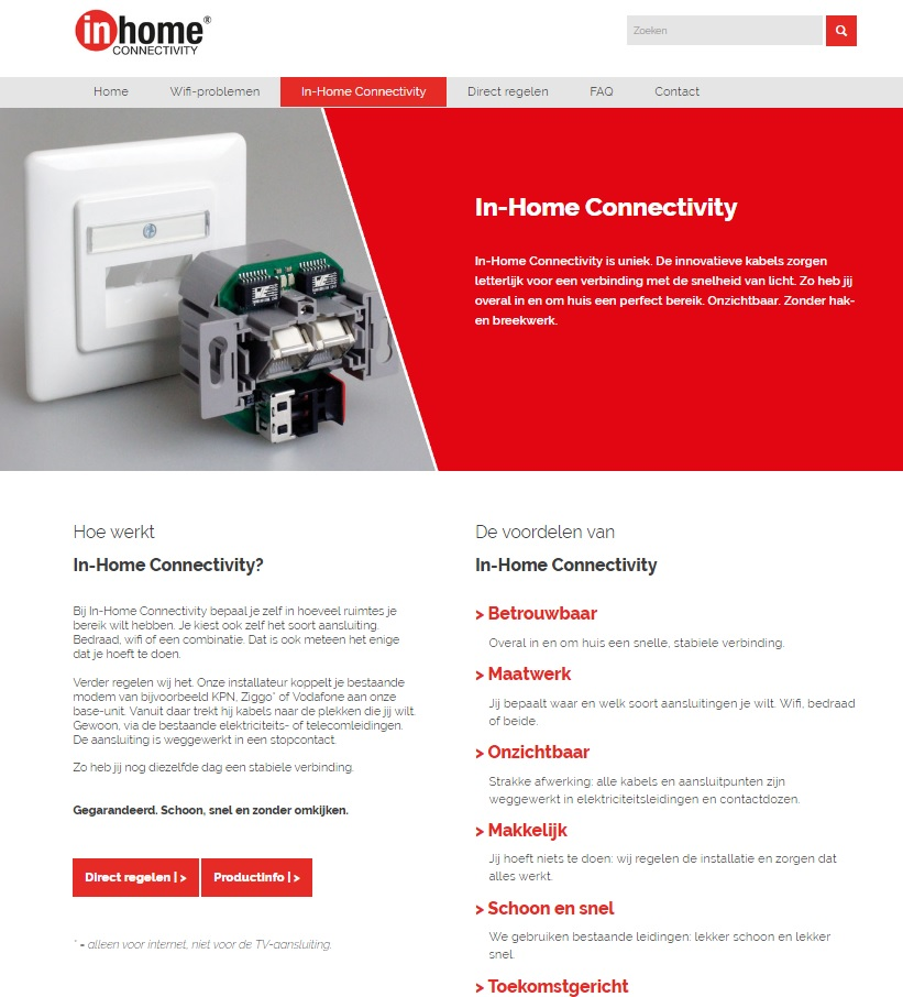 Website – In-Home Connectivity