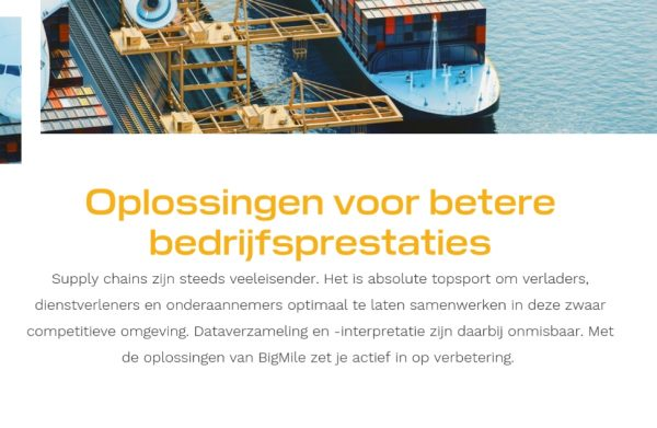 Webteksten transport en logistiek