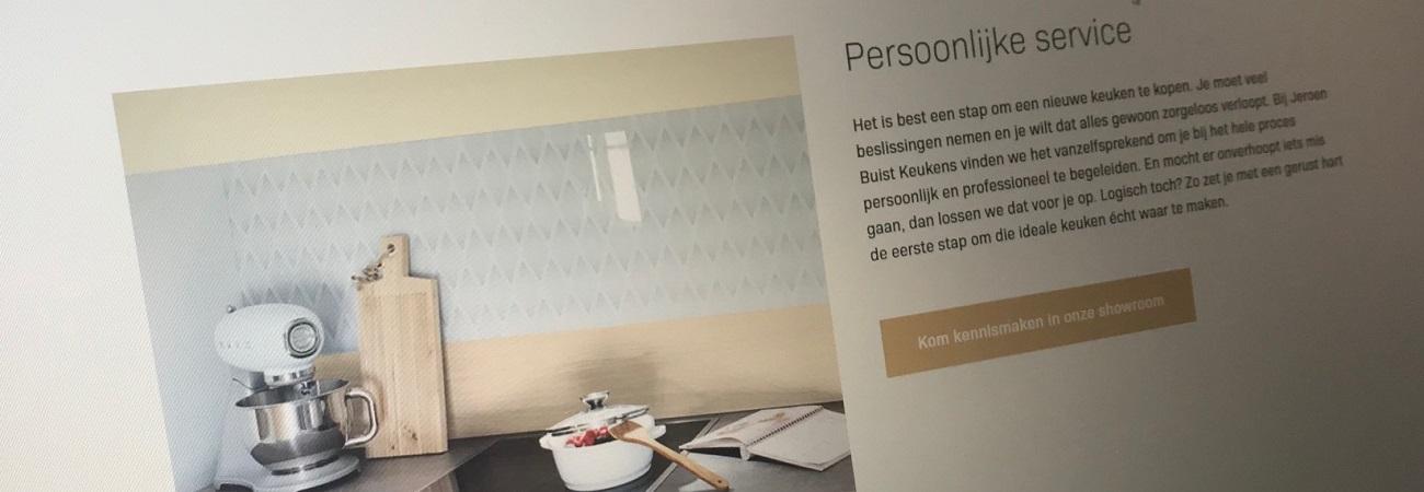 Website teksten Jeroen Buist Keukens