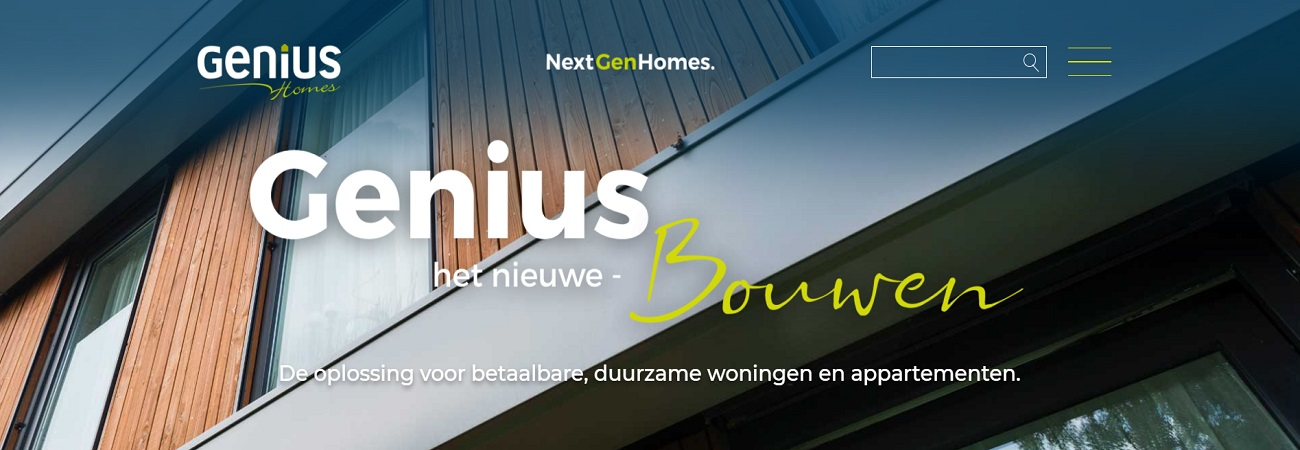 SEO website van Genius Homes
